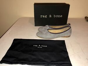 9cf0cce4f Details about NIB Rag & Bone Windsor Ballet Flats in Gray Size 37.5 U.S  Size 7 $350 Retail