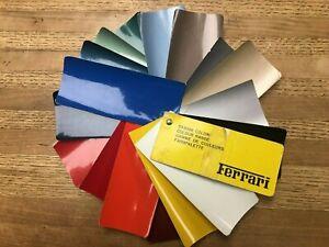 Vintage 1979 Ferrari Models - Colour Range Samples. Rare Find.