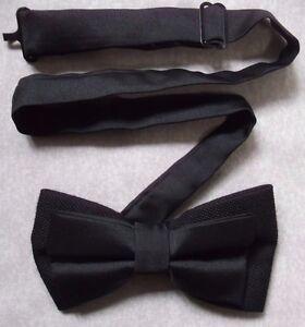 Acheter Pas Cher Vintage Bow Tie Homme Dickie Nœud Papillon Réglable Rétro Noir-afficher Le Titre D'origine