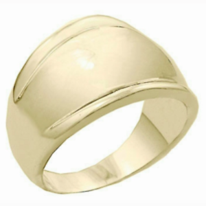 Ladies Gold Plated Cocktail Band Ring Size 12 Wide