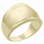 thumbnail 1 - Ladies Gold Plated Cocktail Band Ring Size 12 Wide