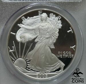 2005-W US 1oz American Silver Eagle PCGS PR70 DCAM COIN