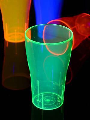 20er-Set 500ml Schwarzlicht Neon Bierglas Pint wiederverwendbar Becher