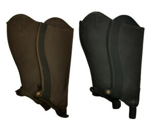 Horse-Riding-Gaiters-Leather-Gaiters-Taurus-Black-amp-Brown