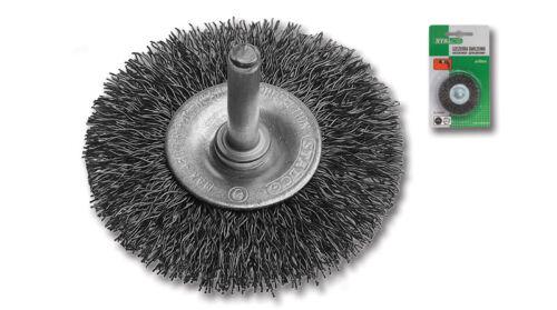 STALCO SCHEIBENBÜRSTE Ø60mm Drahtbürste Schleifbürste Rundbürste Topfbürste NEU
