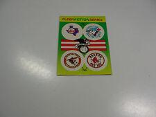 1990Fleer Logo Stickers Rangers/Blue Jays/Orioles/Red Sox Baseball Quiz on back