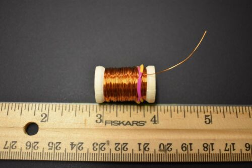 calibre 30 12 Yd environ 10.97 m 1 Cuivre Bobine de Brassie fil de cuivre pour fly tying