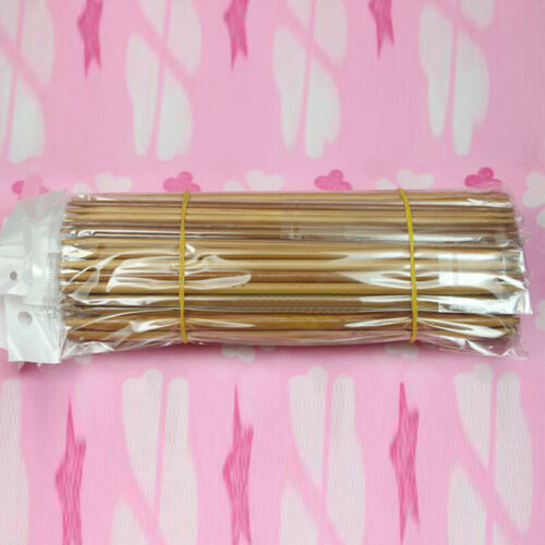 75 Stücke 15 Größen 2mm-10mm Doppelte Carbonized Bambus Häkeln Stricknadeln Lot