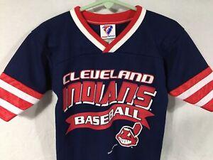 Cleveland-Indians-MLB-Baseball-Youth-Toddler-3T-Jersey-Chief-Wahoo-Garan-2001