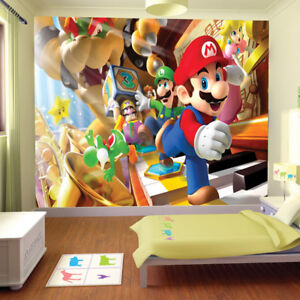 Details about Super Mario Brothers Friend Wallpaper Wall Mural Photo  Bedroom Children Nursery
