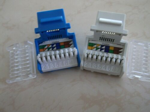 10 PACK-H STYLE CAT6 TUFF JACKS IN WHITE SAME DAY SHIPPING FROM THE US