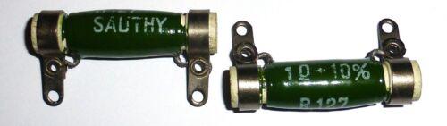 Deux résistances Sauthy 1 ohm 10 watts NOS R127 10x45
