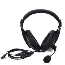 New! 2Pin PTT/VOX Headset Earpiece For Radio Kenwood Retevis H777 Baofeng 888s Y