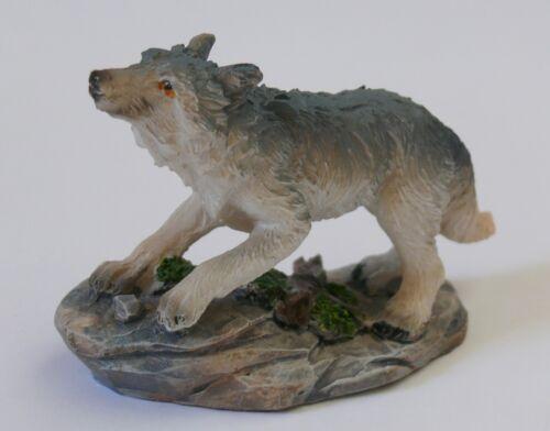 7 cm lang Deko Figur Wolf Wölfe Indianer Country Western GOT Sammler Geschenk