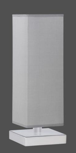 Tischleuchte Nachttischlampe 1 x E14 Stoffschirm grau Höhe ca.34cm LED möglich