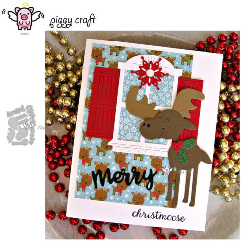 Christmas Moose Letters Metal Cutting Dies Cut Die Mold Scrapbook Card Making