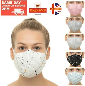100 Cotton Face Mask Mouth Cover Double Layer Nose Wire Washable Facemask Ebay