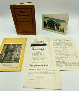 1930s Latter Day Saints / Mormon Ephemera / Paper
