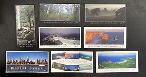 8-x-Victoria-Australian-Postcards-Melbourne-Mt-Buller-Great-Ocean-Road