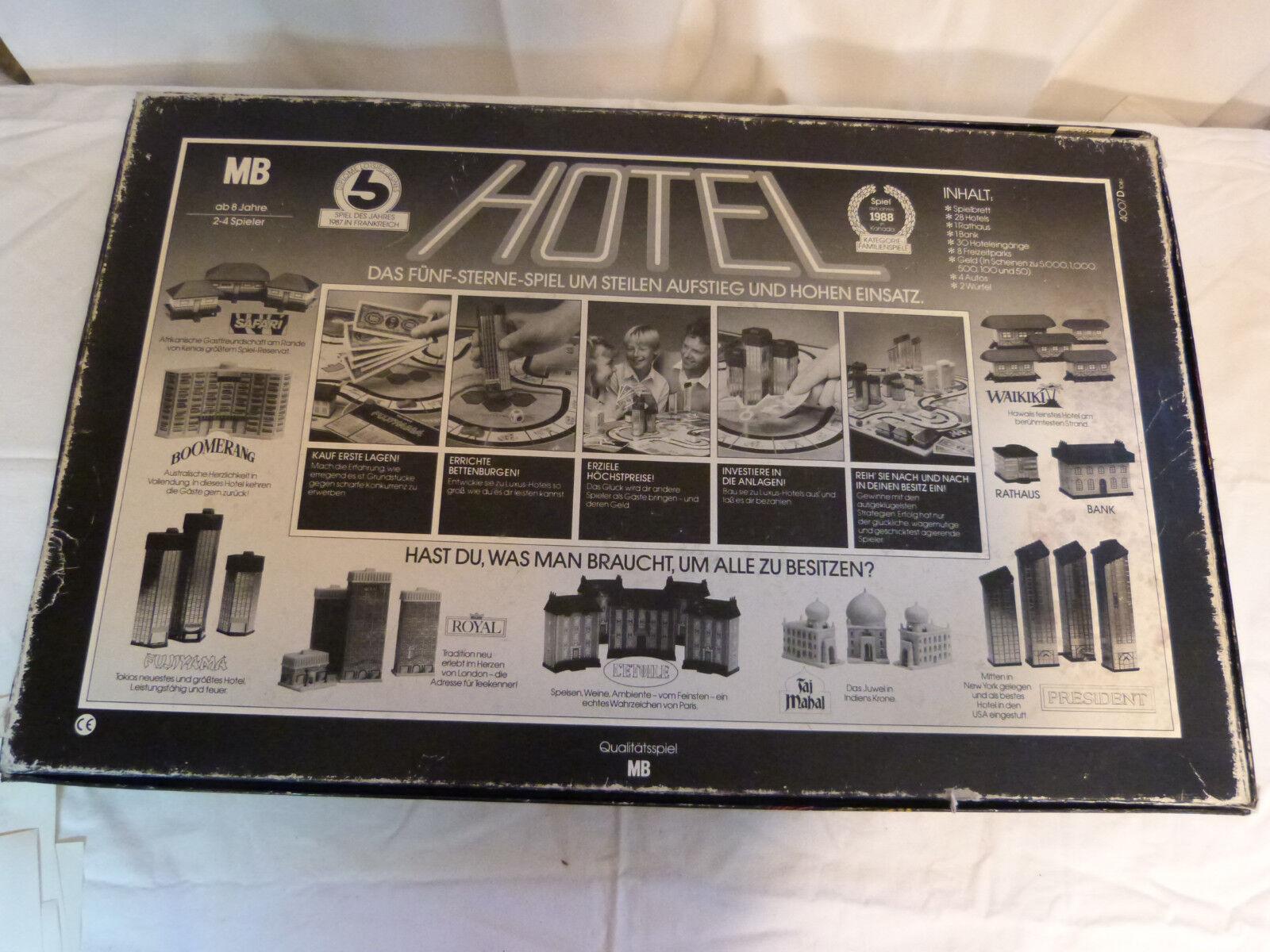Hotel Spiel von MB 1986 - Große Blaue Edition  / Gesellschaftspiel / Spielzeug