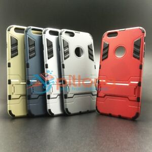 IPHONE 6 PLUS 6S PLUS HYBRID KICKSTAND RUBBER ARMOR PC+TPU 2 IN 1 STAND CASE