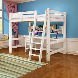 Children Adult Bedroom High Sleeper Pine Wooden Frame Loft