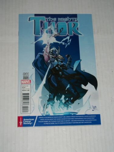 Marvel MIGHTY THOR #11 Pasqual Ferry Prostate Cancer Awareness Variant NM//M