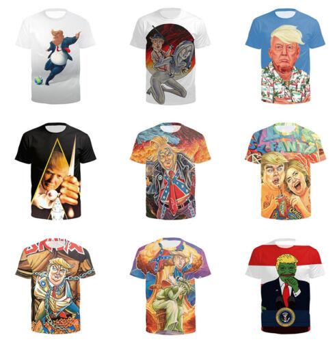 Donald Trump Kim jong Women Men Casual 3D Print T-Shirt Short Sleeve Tops Tee