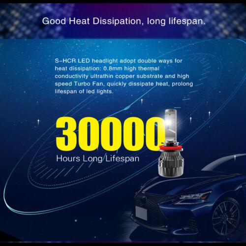 Alla Lighting 10000Lm 6000K White H11 lo  Beam LED hd-light  Bulbs for Silverado
