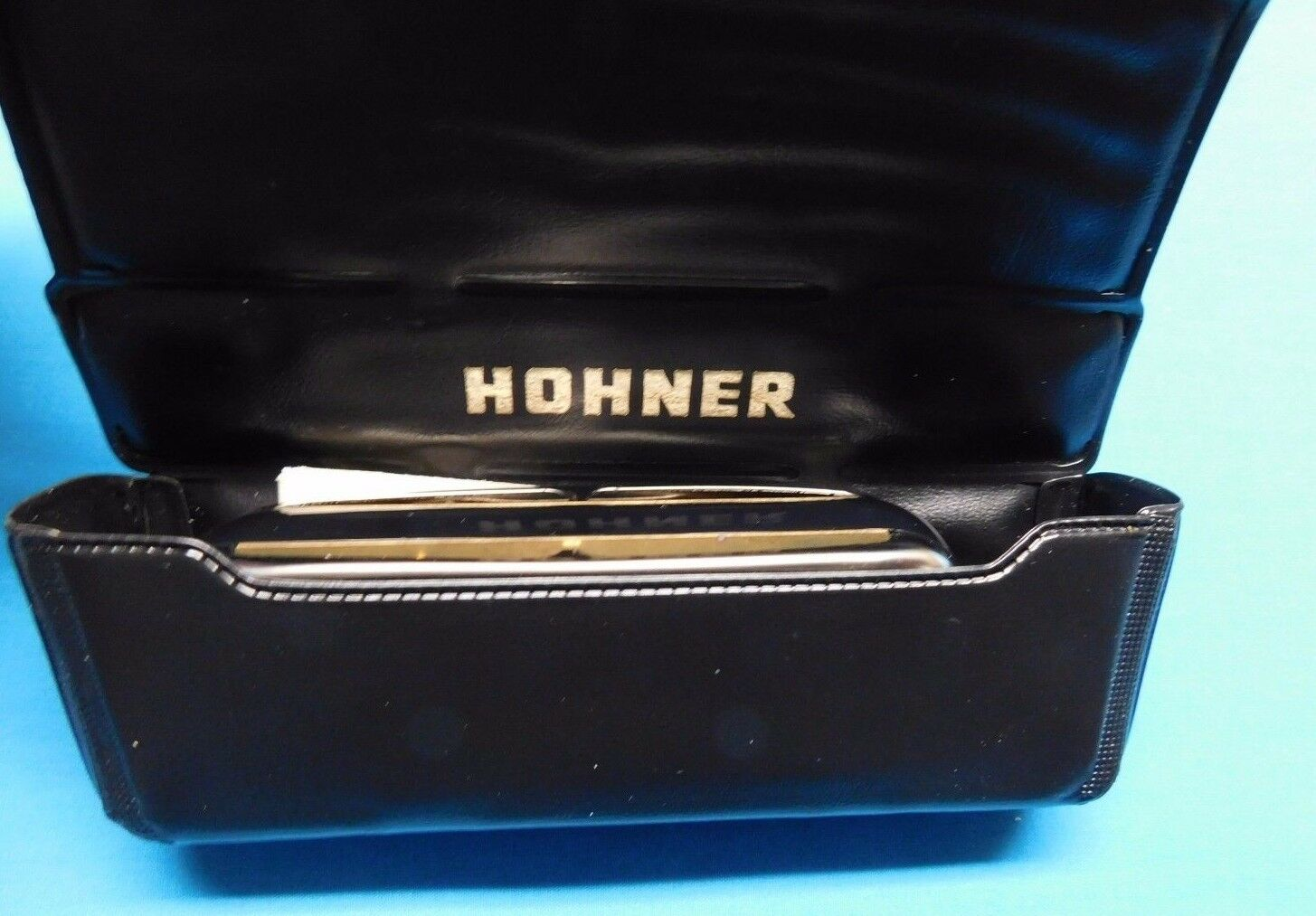 M. HOHNER CHROMETTA 8 250 32 C HARMONICA WITH CASE INSTRUCTIONS GREAT GERMANY
