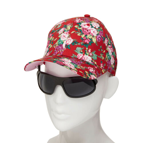 iShades Baseball Cap w Integrated FlipUpDown Sunglasses 100% Cotton Floral