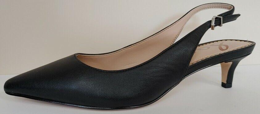 NEW!! Sam Edelman Ludlow Black Leather Slingback 1.5