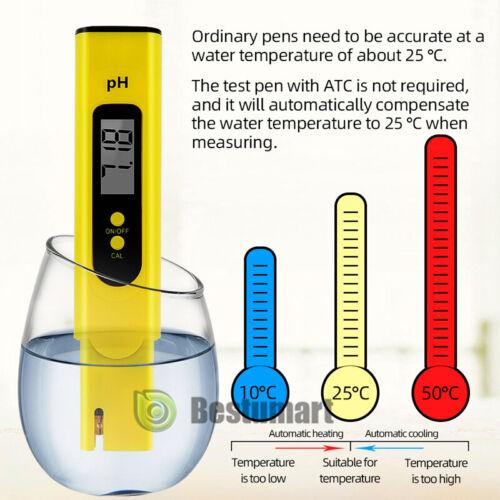 PH Test Pen for Testing Alkaline and Acid Levels Waterproof pH Pocket Tester Lab