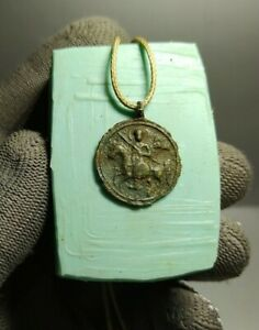 Authentic Artefact Guerrier Amulette Talisman Crusader's era ca.12th-13th Anno Domini #136