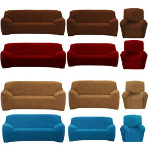Image is loading Stretch-Sofa-Couch-Covers-Slip-Cover-1-Seater- & Stretch Sofa Couch Covers Slip Cover 1 Seater Recliner 2 Seater 3 ... islam-shia.org