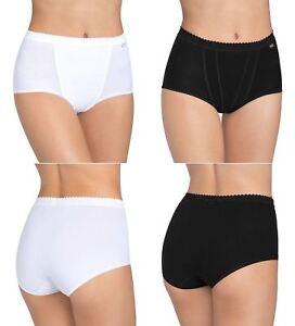 Image is loading Womens-Sloggi-Control-Cotton-Rich-Maxi-Brief-Black- 64f001fb0