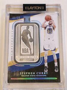 2020-21 panini impeccable basketball Stephen Curry 08/20 Silver Logo Rare