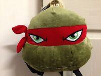 Teenage Mutant Ninja Turtles 11 Inch Plush Backpack - Raphael - Red - Licensed