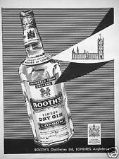PUBLICITÉ BOOTH'S FINEST DRY GIN LONDON