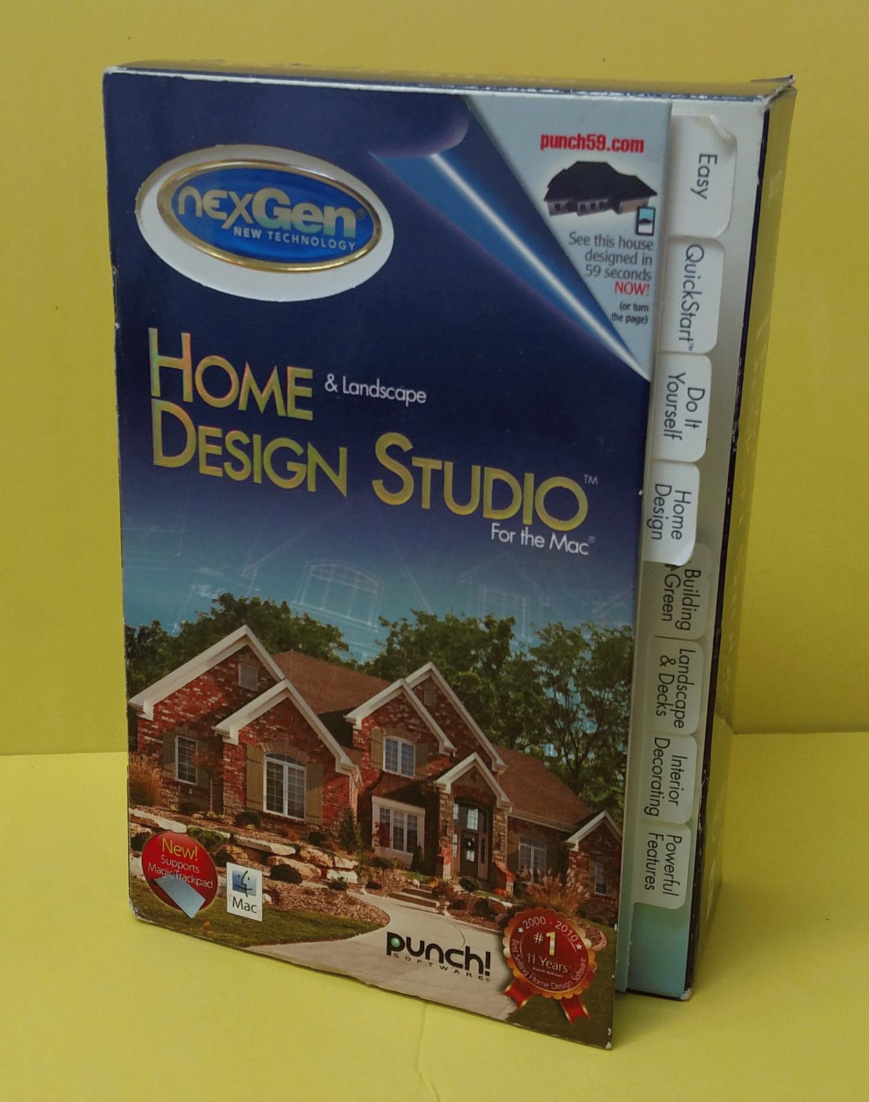 NexGen Home & Landscape Design Studio Software For The Mac  ~ Free S/H 10