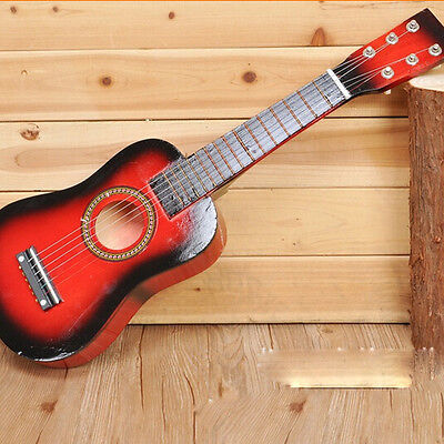 """25"""" Acoustic Guitar Small Scale Child Kids Practice Play Toy Christmas Gift Red"""