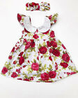 Toddler Kid Baby Girls Floral Summer Lace Sleeveless Princess Party Tutu Dress A