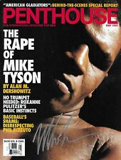 Mike Tyson Signed May 1993 Penthouse Magazine BAS Beckett COA Boxing Autograph