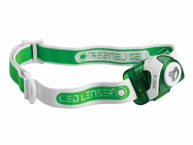 LED Lenser SEO3 Head Lamp Torch White & Red Light Map Reading Hiking Green 6103