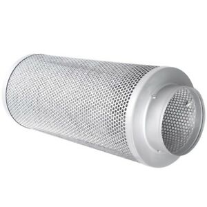 """4"""" 6"""" 8"""" Hydroponics Air Carbon Charcoal Filter Odor Control Scrubber Inline Fan"""