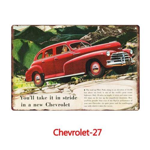 Metal Tin Sign Chevrolet Voiture Bar Pub Accueil Rétro Vintage Poster CAFE ART
