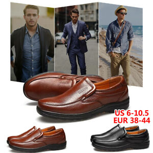 Fashion-Mens-Leather-Dress-Shoes-Casual-Oxfords-Slip-on-Moccasins-Loafers-Formal