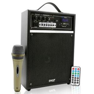 Pyle PWMAB250BK Portable Speaker System Built-in Bluetooth Wireless Streaming