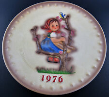 """VINTAGE W. GOEBEL ANUAL PLATE 1976 HAND PAINTED WEST GERMANY 7 1/2"""" (E22)"""
