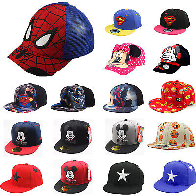 Boy Girl Adjustable Baseball Cap Kid Snapback Cartoon Superhero Casual Sun Hat